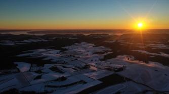 7:00 A.M. Sunrise in Wisconsin